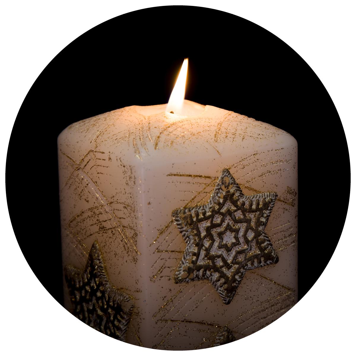 Jewish Star Candle_Round