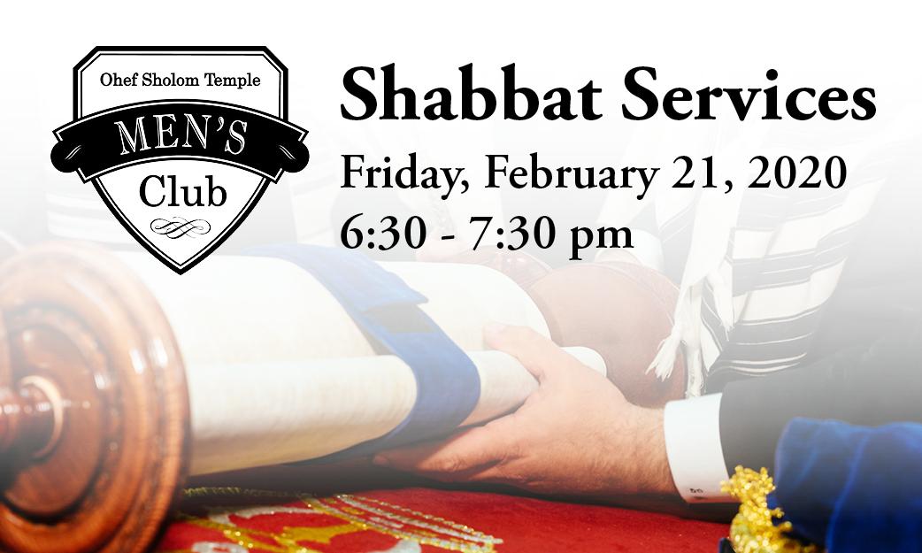 Men's Club Shabbat Service
