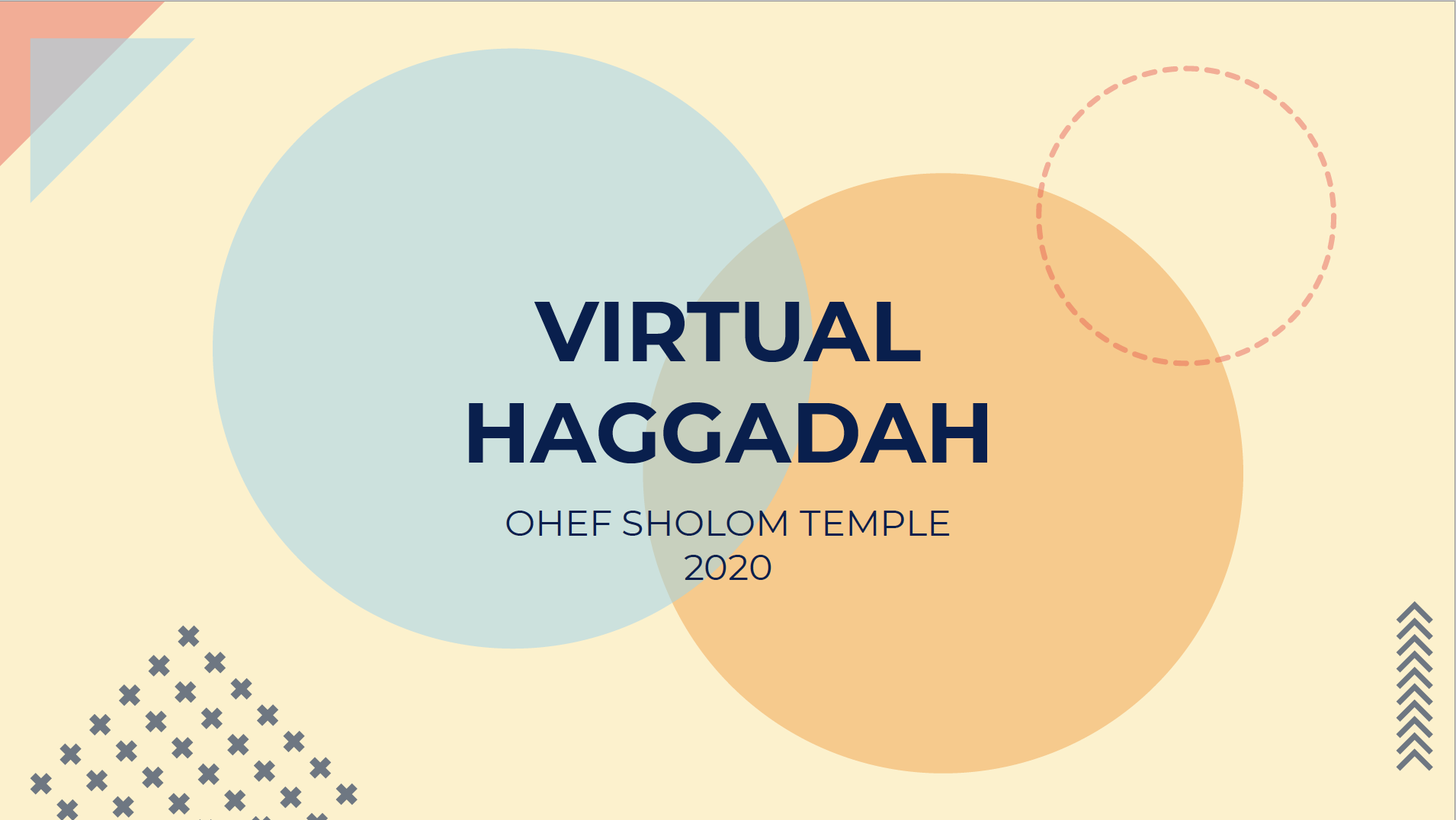 Virtual Haggadah 2020_Title Page