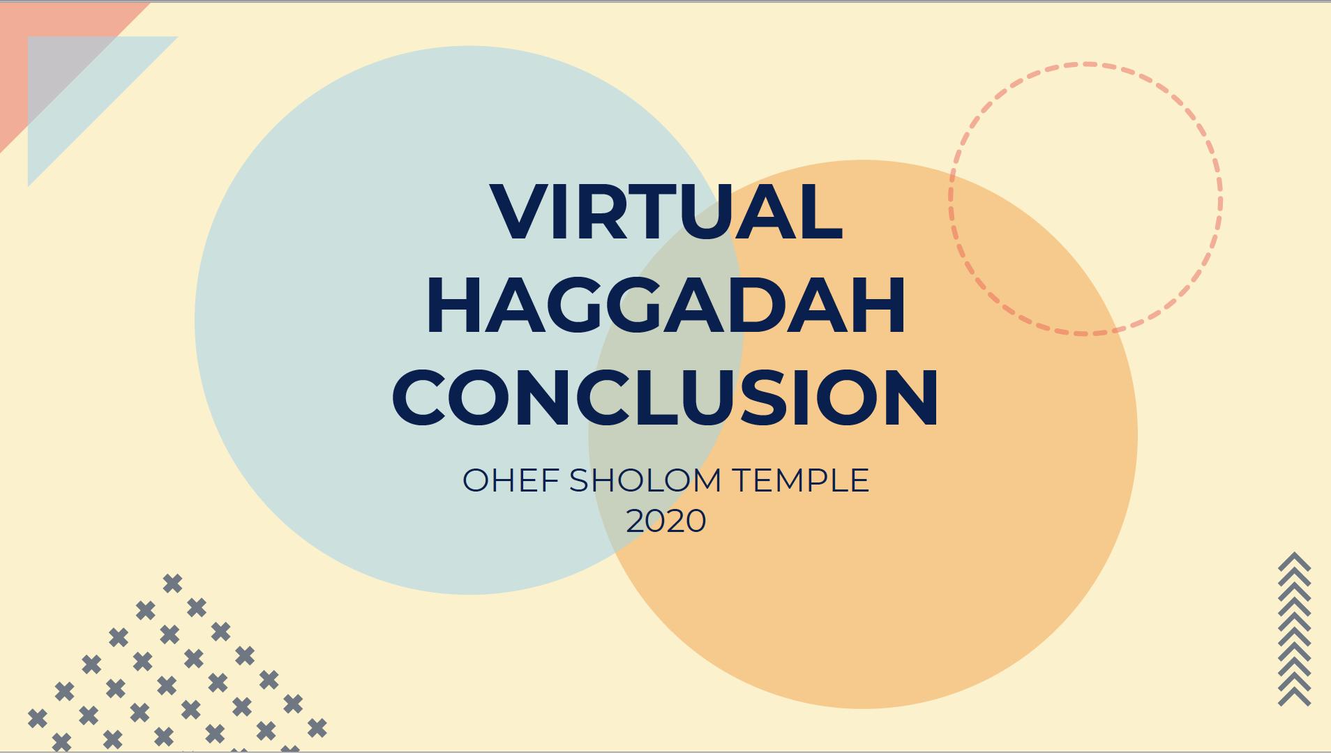 Virtual Haggadah Conclusion 2020_Title Page